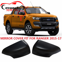 CITYCARAUTO 2PCS SET FOR RANGER Mirror Cover Accessories Rear Mirror Cover Car Styling Fit For Ranger