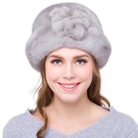 JKP 2018 new real mink fur hat women fashion warm winter mink fur hat girls Christmas gift hat black warm hat DHY18 10