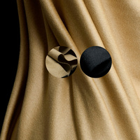 Fashion solid thin pure cashmere fabric,camel color,black,sewing for long coat,jacket,scarf,outer,skirt,dress,craft by the yard
