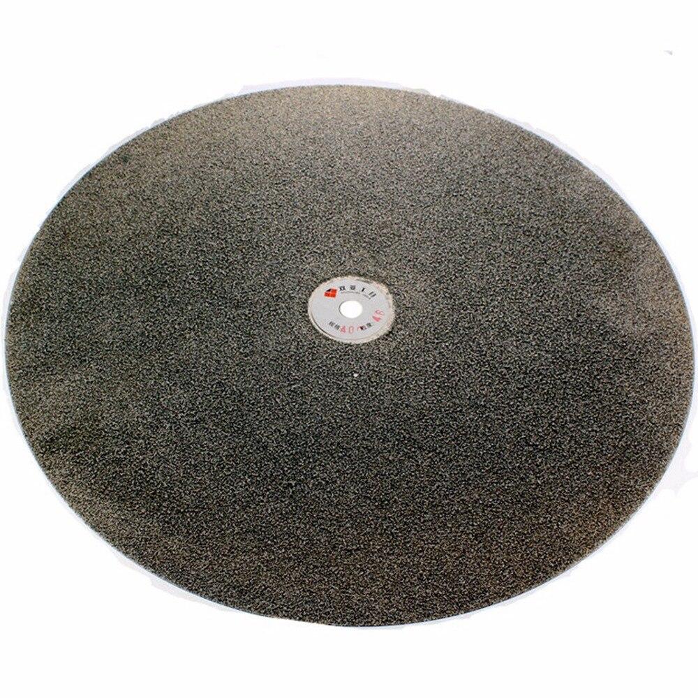 16 дюймов 400 мм зернистость 46 1200 алмазный шлифовальный диск абразивные круги с покрытием плоский круг диск ювелирные инструменты для камня д