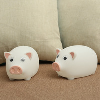 BRIGHTINWD Children's Night Lights Cute Pig Decorative Lights For Baby Kids Bedroom Usb Silicone Soft Portable Table Lamp