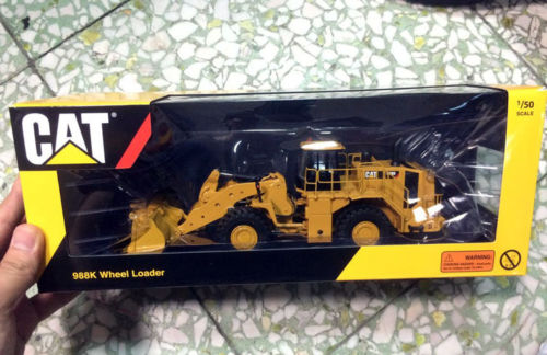 Tonkin TR10001 - Cat Caterpillar 988K Wheel Loader 1/50 diecast Model Construction vehicles norscot 1 50 siecast model caterpillar cat ap655d asphalt paver 55227 construction vehicles toy
