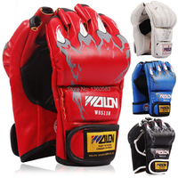 New MMA boxing gloves / extension wrist leather / MMA half fighting Boxing Gloves/Competition Training Gloves 5colors for adult