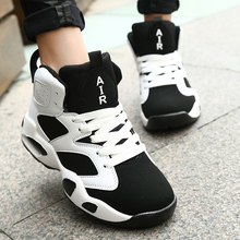Brand Men Casual Shoes High Top Basket Femme Unisex Trainers Air Sport Walking Shoes Breathable Zapatillas Hombre 36-44 Boots