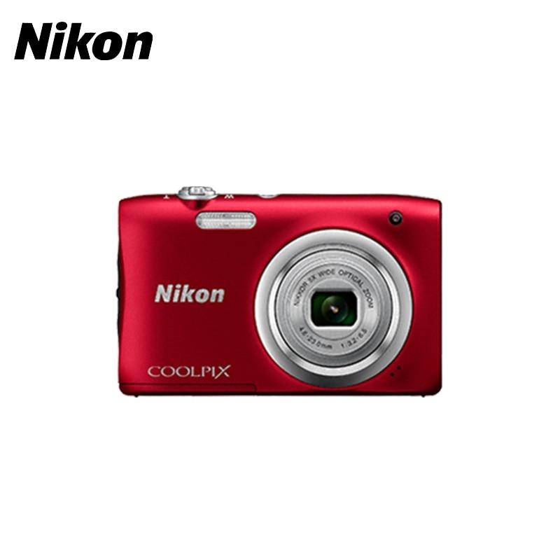 Digital Camera Nikon CoolPix A100 photocamera hd 16mp slr digital camera with 2 4 tft display 4x digital zoom digital video camera changeable lens camera free shipping