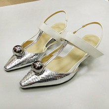 fashion sexy Female high heels Round ball Spell color T-shaped pointed head women's shoes pumps Tacones Mujer obuv