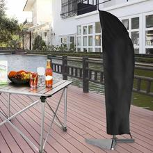 Waterproof Outdoor Umbrella Cover Garden Weatherproof Patio Cantilever Parasol Rain Cover Accessories Black Oxford cloth Cover