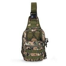 Men's Military Waist Bag Tactical MOLLE Pack Waist Bag Army Waterproof Shoulder Bag Rucksack for Hiking Camping Hunting