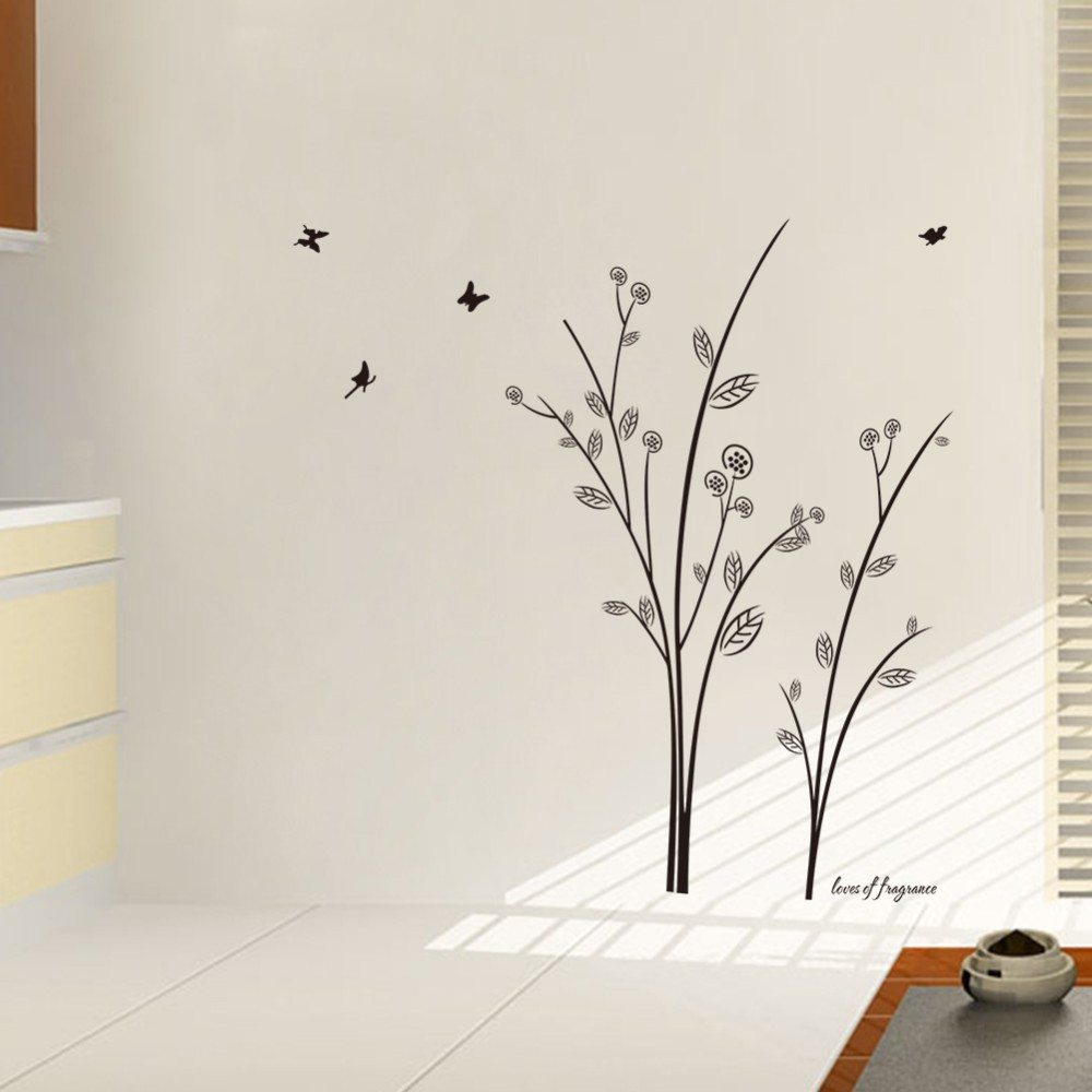 Great Simple And Elegant Tree Butterfly Wall Stickers For Living Room Kids Room  Bedroom Home Decor 3d