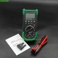 Mastech ms8268 multímetro digital proteção total para evitar a operação errada ac/dc amperímetro voltímetro ohm tester frequência multit