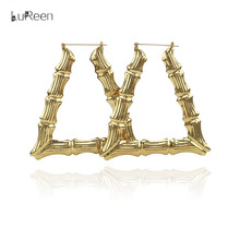LuReen Hiphop Big Large Bamboo Hoop Earring For Women  sc 1 st  AliExpress.com & Buy triangle bamboo earrings and get free shipping on AliExpress.com