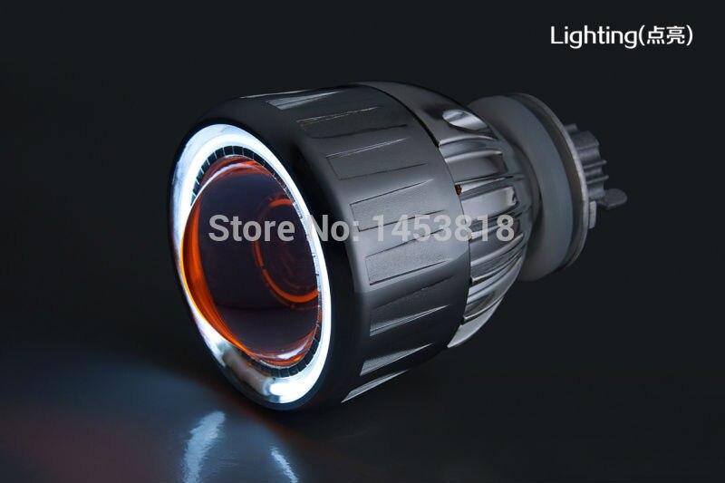 Круговой 2GC Xenon алюминиевый сплав Корпус CCFL Ангел глаз 35 Вт 2,5 дюймовый Авто H1 H4 H7 HID объектива 4300 К 5000 К 6000 К 8000 К