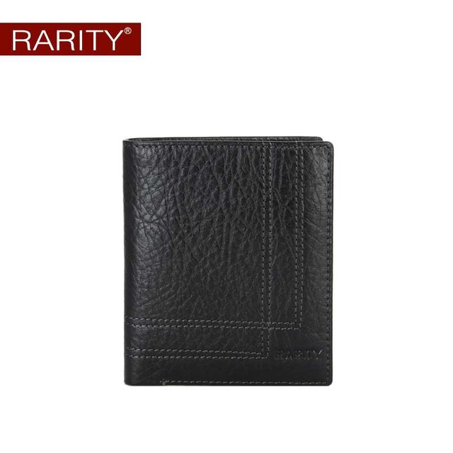 Brand Rarity 100% Genuine Leather Wallet for men purse billfold real cow leather men wallets credit card holder gift box WRC0050