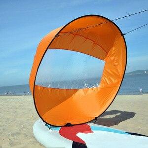 "Image 2 - 42 ""/108 Cm Zeil Opvouwbare Kajak Boot Wind Zeil Kano Sup Paddle Board Met Clear Window Drifting Varen accessoire"