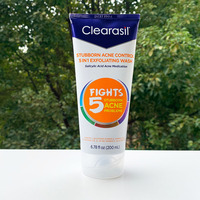 Clearasil Ultra Salicylic Stubborn Acne Control 5 in 1 Exfoliating Wash Scrub Cleanser 200ml Acne Remover