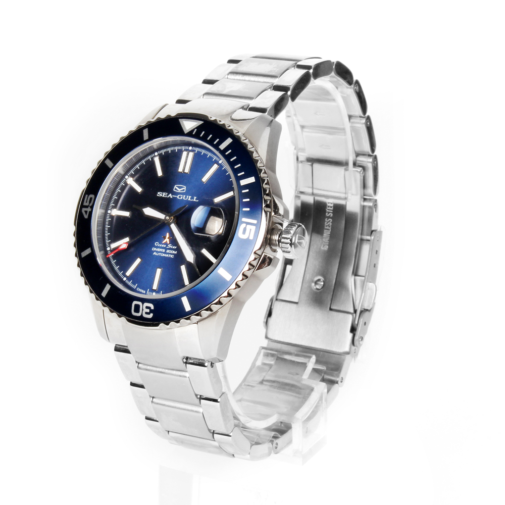 Image 3 - Seagull Ocean Star Self wind Automatic Mechanical 20Bar Mens Diving Swimming Sport Watch Blue Dial 816.523dialdial watch  -