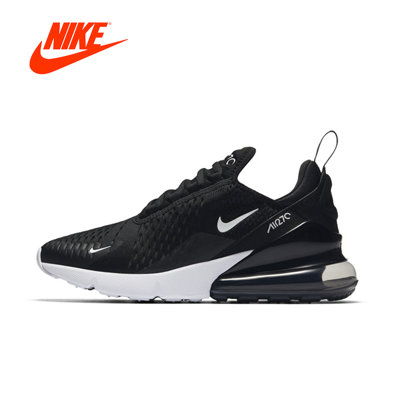 Original New Black Nike Air Max 270 Women Running Shoes Sneakers Outdoor Comfortable Breathable Women Sports Shoes nike air max 270 men s running shoes black