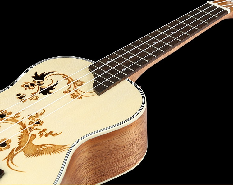 Ukulele Solid Wood Ukelele Strings 23 Inch Spruce Beginner Guitars Childrens Musical Instruments Professional Guitar Concert