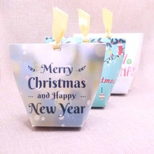5pcs New Candy Box  Wedding Favourate Love You 12x10x6cm Merry Christmas Back To School Gift Halloween Festival