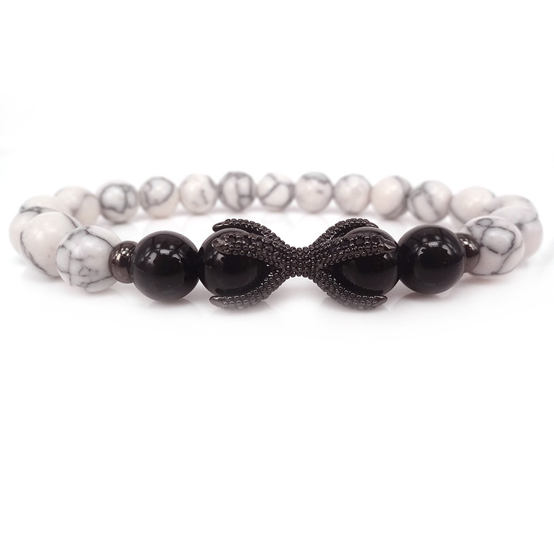 2017 Dragon Claw Bracelet Eagle Beads Bracelets Charm Natural Onxy Stone Yoga Jewelry Men Women Christmas Gift In Strand From