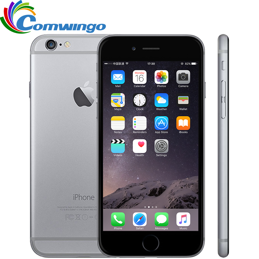 Original Unlocked Apple iPhone 6 Cell Phones RAM 1GB ROM 16/64/128GB 8MP 4.7'IPS GSM WCDMA LTE iPhone6 Used Mobile Phone
