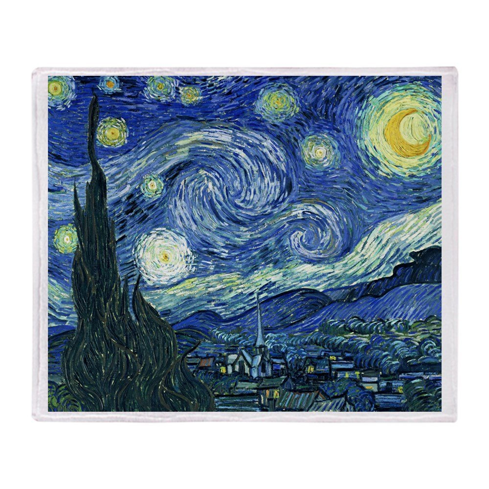 <font><b>Van</b></font> <font><b>Gogh</b></font> Sternenklare Nacht Weiche Fleece Decke Air/Sofa/Bettwäsche Weiche Winter Bettlaken image