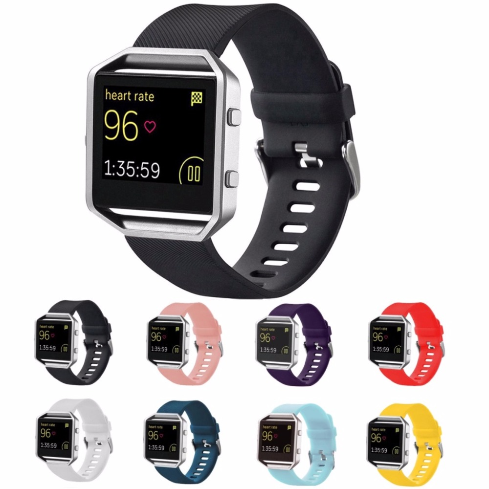 Men and women sport casual edition Soft Silicon Rubber Sports Watch Band Wrist Strap for Fitbit Blaze with Metal Buckle + Frame цена и фото