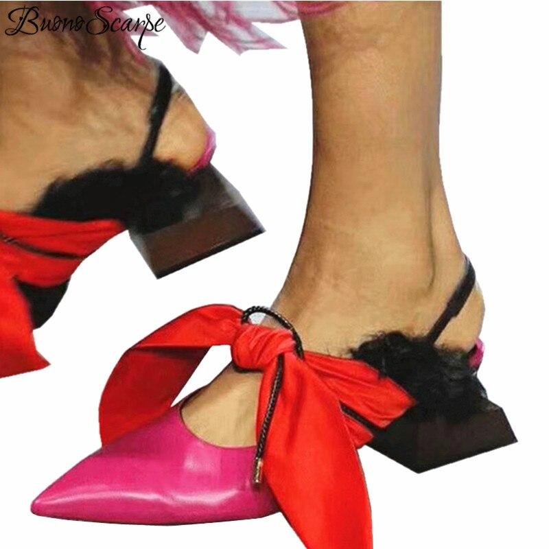 Ayakk.'ten Yüksek Topuklular'de Buono Scarpe Dantel Riband Garip yüksek topuklu sandalet Kadın Marka Moda Gösterisi Ayakkabı Sivri Burun Kelebek Düğüm Gladyatör Ayakkabı'da  Grup 1