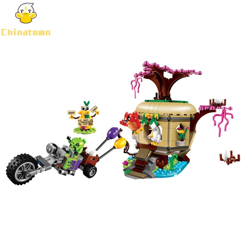 BELA Bird Lsland Egg Heist Bu Building Blocks Sets Bricks Birds Model Kids Classic Toys For Children Compatible Legoings Friends 449pcs bela 10295 laval s fire lion model diy building blocks for children sets classic bricks toys compatible with lego