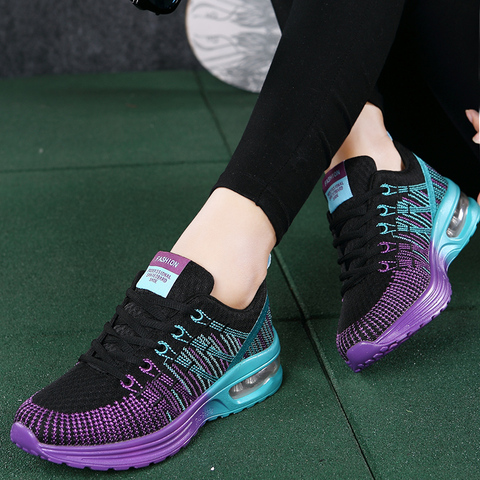 Women sneaker 2019 outdoor breathable couple casual shoes damping mixed color shoes woman fashion sports women running shoes Lahore