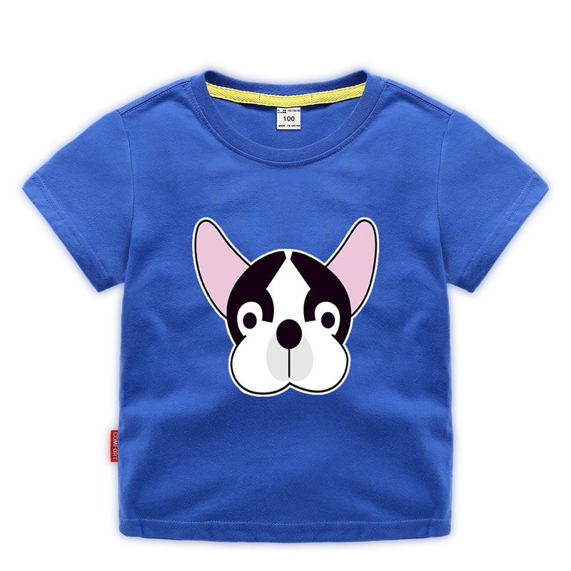 Boy Summer Clothes Cartoon Animal Print Printed T Shirt Cotton 2 8 Year Old Little Girl Short Sleeve Top in T Shirts from Mother Kids