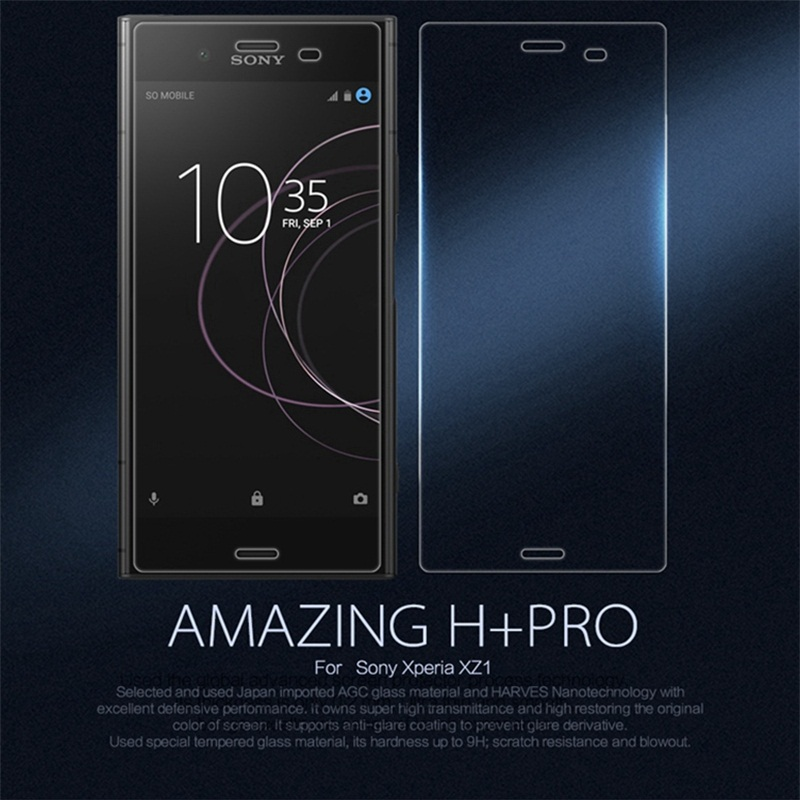 for Sony Xperia XZ1 Glass Nillkin H+Pro 0.2mm Ultra thin 2.5D Tempered Glass For Sony XZ1 F8341 Dual Sim F8342 Screen Protector