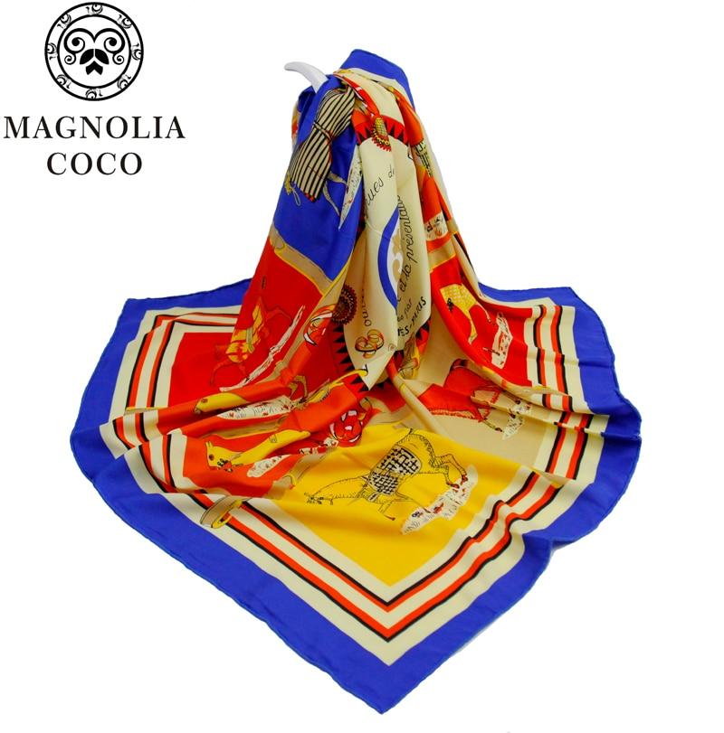 MAGNOLIA Fashion Silk Twill Scarf Կանայք բարձրորակ - Հագուստի պարագաներ - Լուսանկար 3