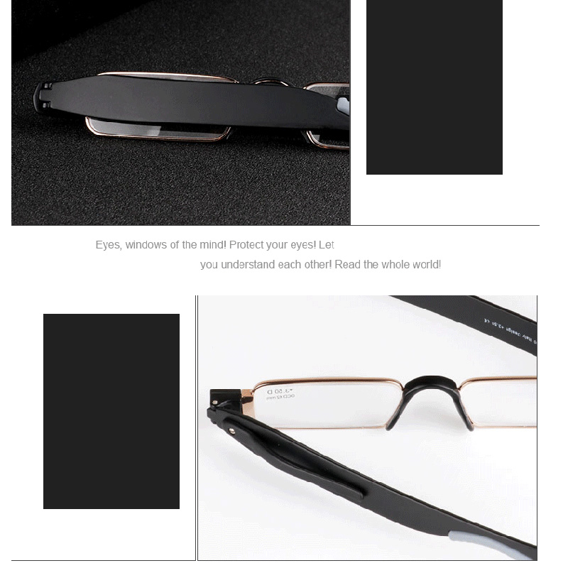 b91a1d0c211b Reading Glasses TR90 Resin Lens Men Women Stainless steel Reading Eyeward  360 Flex