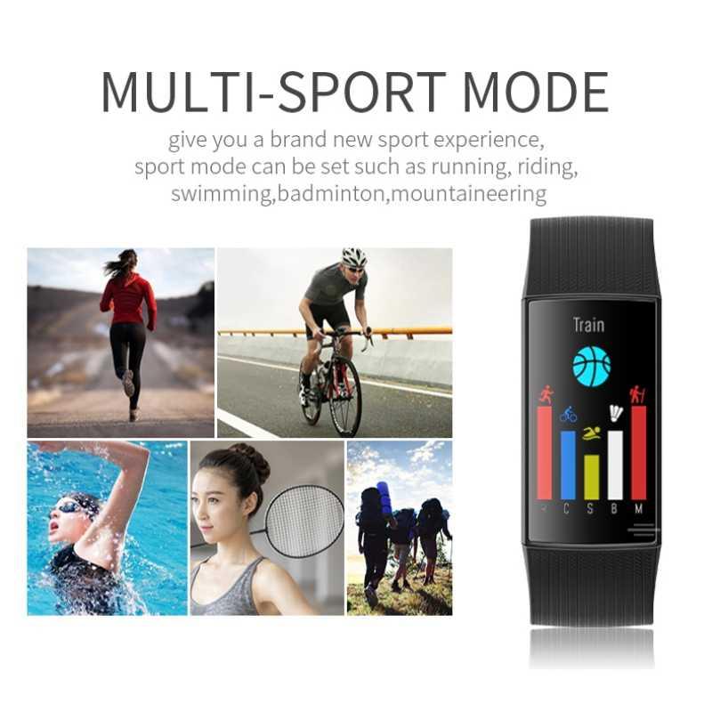 2019 นาฬิกาสมาร์ทกีฬาสร้อยข้อมือฟิตเนส Tracker กันน้ำ Heart Rate Monitor นาฬิกากีฬาหลายโหมดสำหรับเด็ก Wom