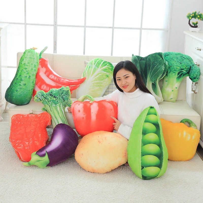 40-60CM simülasyon sebze yastık minder sebze peluş bebek patates brokoli lahana bezelye biber peluş oyuncak yaratıcı ev