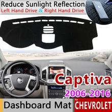 Chevrolet captiva 2006 ~ 2018 holden daewoo winstorm 미끄럼 방지 매트 대시 보드 커버 패드 sunshade dashmat 카펫 자동차 액세서리