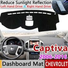 Para Chevrolet Captiva 2006 Holden 2018 Holden Daewoo Winstorm alfombrilla antideslizante almohadilla de la cubierta del tablero sombrilla alfombra dashmat accesorios para coche