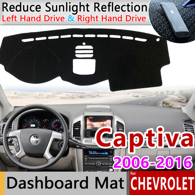 for Chevrolet Captiva 2006~2018 Holden Daewoo Winstorm Anti Slip Mat Dashboard Cover Pad Sunshade Dashmat Carpet Car Accessories