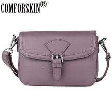 COMFORSKIN Luxurious Womens Leather Shoulder Bag Cowhide Clutch New Arrivals Ladies Messenger Fashion Cross-body Bags