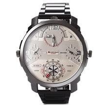 Shiweibao A3612 Ocio reloj de los hombres Cuatro Movimiento Marca Correa de acero Inoxidable
