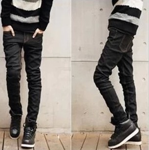 Black denim skinny jeans men – Global fashion jeans models