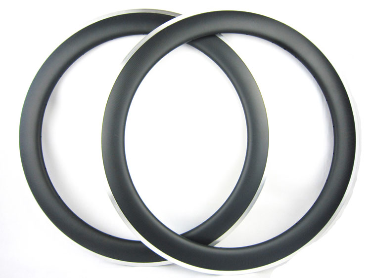60mm Clincher Alloy Brake Surface 25mm Width 700C High Quality Full Carbon Rims One Pair 700C