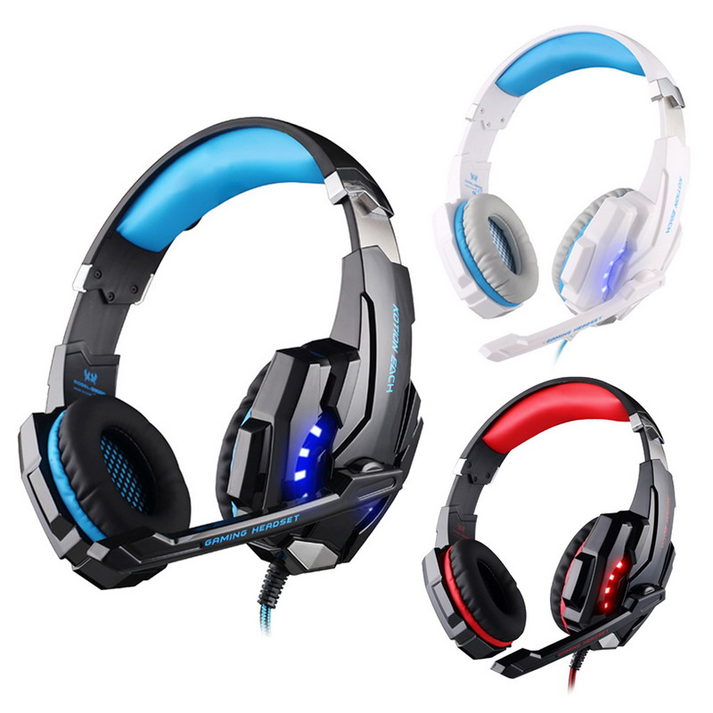 ФОТО FW1S KOTION EACH G9000 USB 7.1 Surround Sound Version Game Gaming Headphone with Mic LED Light for PS4 PC Tablet Mobile Phones