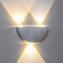 LED Wall Lamp Easy Installation AC100-265V 3W Warm White Alumium Xtra Brightness Led Outdoor Bedroom for Reading