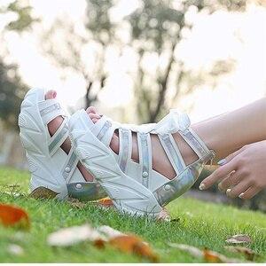 Image 5 - הו תרומה קומפורטי נעלי נשים מאפין תחתון טריזי עקבים קיץ נעלי נשי לנשימה סנדלי נשים אופנה פלטפורמת סנדלים