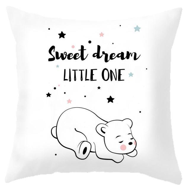 HTB1RH HRMHqK1RjSZJnq6zNLpXaV Custom Baby Cartoon Cushion Whale Print Nordic Kids Decoration Cute Rabbit Bear Eyelashes Love Decorative Pillows For Office Car