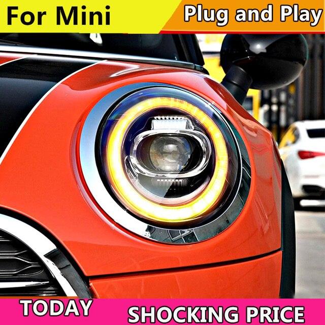 Auto Styling LED kopf Lampe für BMW F55 F56 scheinwerfer 2013  2019 für MINI kopf Licht DRL + Drehen signal ALLE LED scheinwerfer