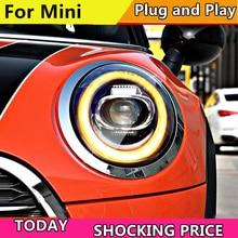 Car Styling LED head Lamp for BMW F55 F56 headlights 2013  2019 for MINI head Light DRL+Turn Signal ALL LED headlight