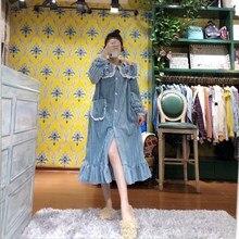 Mode Winter Robe Weibliche Stickerei Roben Warme Nachthemd Lange Nachtwäsche Frauen Bademantel Einzigartige Design Blau Robe Damen 3 farbe
